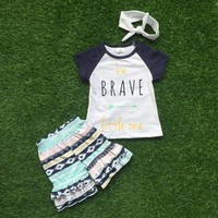 Be Brave Little One Aztec Short Set