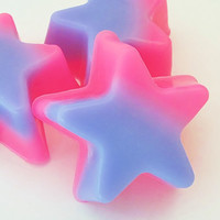 Pink & Purple Rock Star Soap Set  fun kids and by crimsonhill