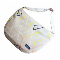 Beige tribal geometric pattern bike crossbody bag bike messenger bag cycling bag 1.1 BASIC COLLECTION