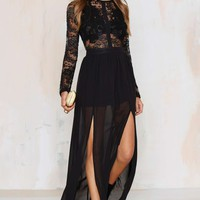 Applique Mystique Lace Dress