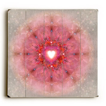 Kaleidoscope Heart by Artist Krista Raak Wood Sign