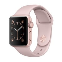 Apple Watch Series 2 (38mm Rose Gold Tone Aluminum with Pink Sand Sport Band) | null