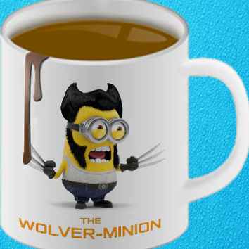 Minion Wolverine Ceramic Coffee Mug heppy coffee.