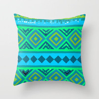 Under The Sea Pattern Throw Pillow by Mad Dope | Society6