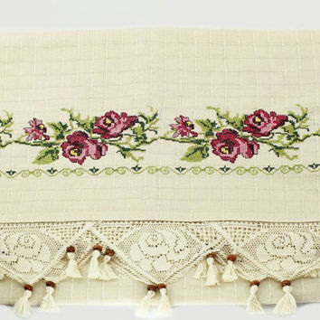 Shabby Chic French Country Curtain Embroidery Rustic Curtains Lace