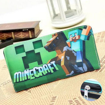 Minecraft New arrival wallet Leather, size 19 x 19,5 cm