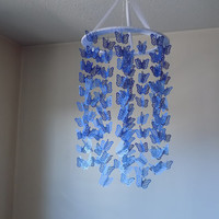 Blue ombre butterfly paper mobile! READY TO SHIP! Baby Nursery mobile, Crib mobile. All occasion lullaby mobile.Boy/Girl/Teen/Tween mobile.