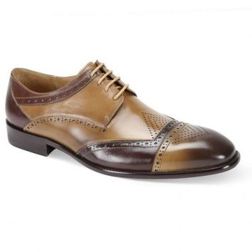 Two-tone Brogue Dress Shoe by Steven Land