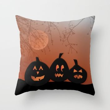 Halloween Pumpkins Throw Pillow by UMe Images