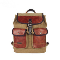 Deluxe leather and canvas backpack for men | day tripper rucksack m19