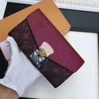 Louis Vuitton  Women Leather Multicolor Wallet Purse
