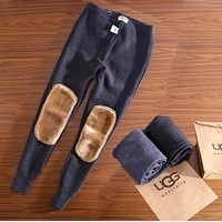 UGG Fashion Women Men Autumn And Winter Thick Warmth Cashmere wool Pants Leggings