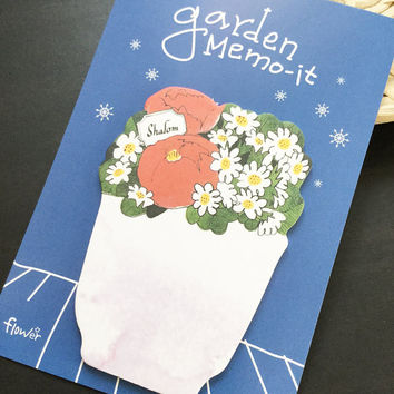 Garden Flower Sticky Notes Memo Pad Labels   Bookmark Stationary Paper   School Office Supplies   Removable Adhesive Cute Korean Post-It M34