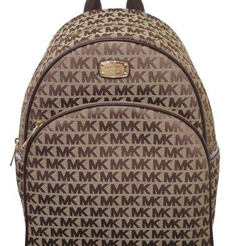 ONETOW Michael Kors Beige Java Large Signature Backpack Bag