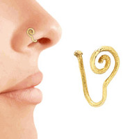14kt Gold Filled or Sterling Silver Fake Nose Ring Spiral Nose Ring Nose Clip Fake Body Jewelry Non Pierced Nose Ring No Piercing Nose Ring