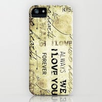 Two Hearts - for iphone iPhone & iPod Case by Simone Morana Cyla