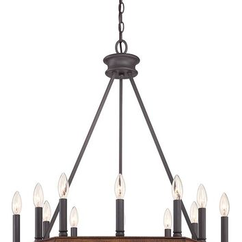 Plantation 12-Light Octagonal Chandelier - Wood Chandelier - Rustic Chandeliers - Contemporary Chandeliers - Dining Room Chandeliers | HomeDecorators.com