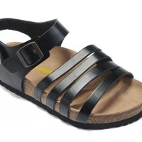 Birkenstock Almeria Sandals Leather Black