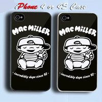 Mac Miller Most Dope Taylor Gang Incredibly Dope Custom iPhone 4 or 4S Case Cover