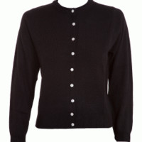 Cardigan Button Down Black Long Sleeve | Bettie Page Clothing