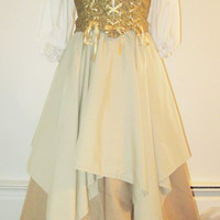 Custom Renaissance Costume with Corset, Overskirt, Underskirt and Chemise