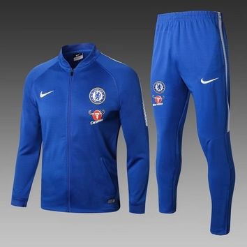 KUYOU Chelsea 2017/18 Blue Men Jacket Tracksuit Slim Fit