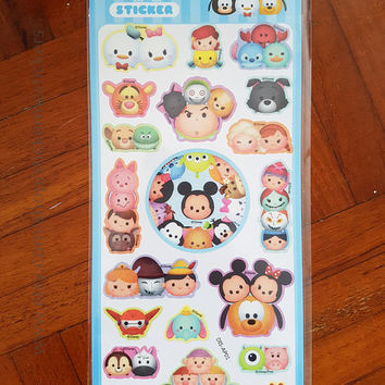 Tsum Tsum stickers, Winnie the Pooh, Mickey Mouse, Piglet stickers, Tigger stickers, Disney stickers, Cartoon stickers, Disney sticker, SO