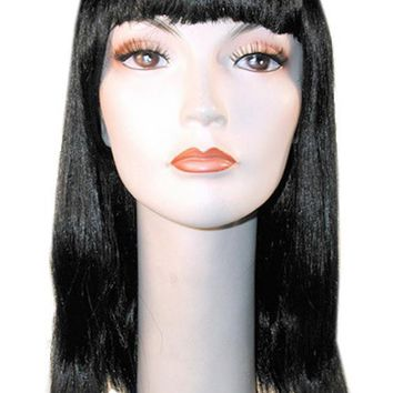 Cleo Blunt Neon Orange Ne8 Halloween women's wig