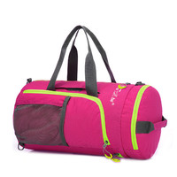 2016 Hot Sale Foldable Fitness Bags Women Sport Bag Men Traning Shoulder Gym Bag Outdoor Waterproof Nylon Handbag  ZF-HAC009