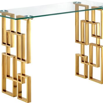 Pierre Gold Console Table