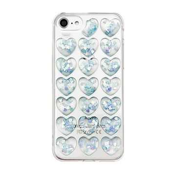 Clear 3D Hearts Case  For IPhone 7 & IPhone 7 Plus