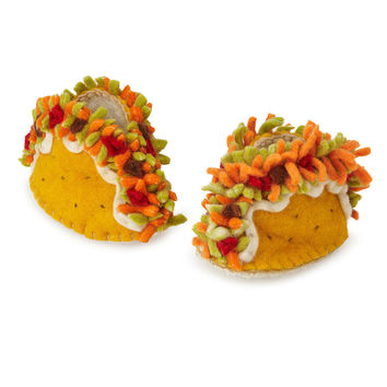 Taco Booties | baby shoes, handmade
