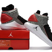 Nike Air Jordan 32 XXXII Retro AJ32 Black/Gray/Red Sneaker Shoes US7-12
