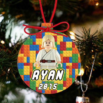 Personalized Christmas LEGO Ornament - Lego Movie Character Hans Solo