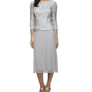 Alex Evenings Short Mother of the Bride Dress Formal