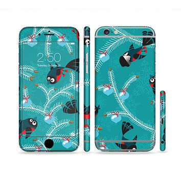 The Blue with Flying Tweety Birds Sectioned Skin Series for the Apple iPhone 6/6s Plus