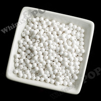 WHITE 6mm Solid Gumball Beads