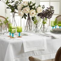 Rochester White Hemstitch Table Runners