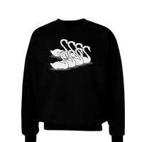 Seven Swans A Swimming Adult Dark Sweatshirt