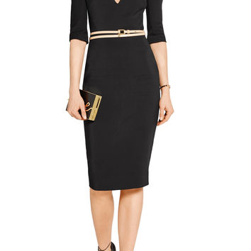 Stretch cotton-blend cady dress | Victoria Beckham | US | THE OUTNET