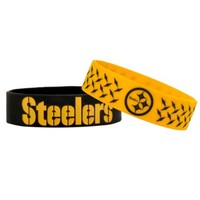 NFL Pittsburgh Steelers Bulky Bandz Bracelet 2-Pack