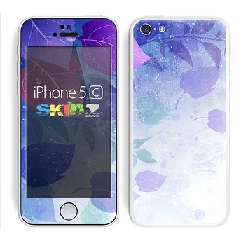 The Magical Abstract Pink & Blue Floral Skin for the Apple iPhone 5c