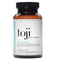 Toji: Pure Density 30 Day Supply | Hair Vitamin Supplement | w/ Biotin, DHT Blocker, Horsetail, and Eclipta Alba (Herbal Minoxidil Alternative) | Supports Healthy Hair to Grow Faster, Thicker, and Stronger