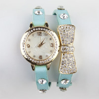 Bow Wrap Bracelet Mint One Size For Women 22273752301