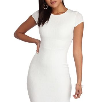Ivory Text Me Later Dress