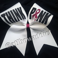 Cheer Bow - Breast Cancer Awareness