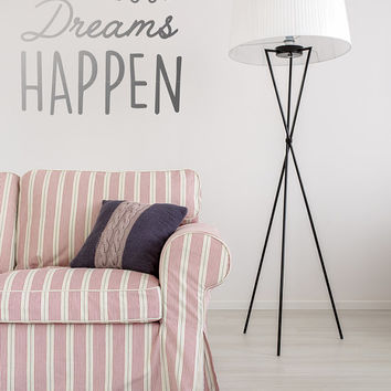 Make Your Dreams Happen Wall Decal, Typography Wall Sticker, Kids Sticker, Typography Decal, Nursery Decal, Office Decor, Office Wall Decal