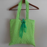 Tote Bags, Green Bags, Women's Handbags, Accessories bags, handmade bags, Style Bag, Tablet Case, Summer Bags