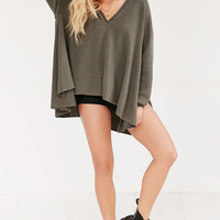 Project Social T V-Neck Hooded Top - Urban Outfitters