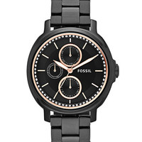 Fossil Ladies Chelsey Black Multi-Function Watch